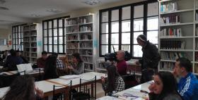 Il Tg1 nella biblioteca Pigliaru dell'Università di Sassari